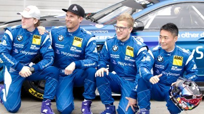 Das Team Walkenhorst am Nürburgring inklusive Gran-Turismo-Chef Kazunori Yamauchi