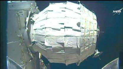 Das neue Modul der ISS, voll entfaltet