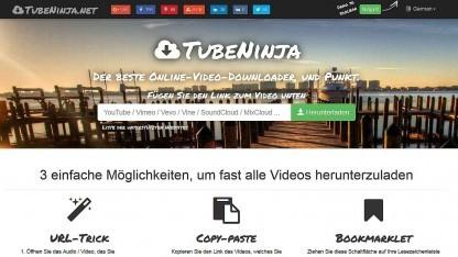 Startseite von Tubeninja