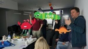 Teilnehmer des Kampangen-Workshops der FSFE
