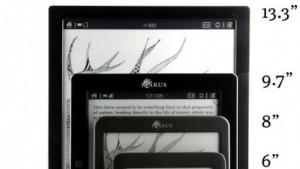 Der 13,3 Zoll große A4 im Vergleich mit kleineren E-Readern