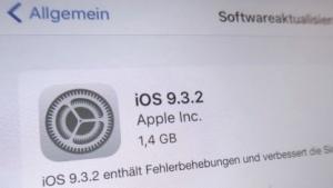 iOS 9.3.2  ist da.