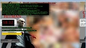 Der Sperrbildschirm der Ransomware
