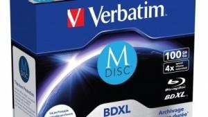 Verbatim bietet die M-Disc nun auch mit 100 GByte Kapazität an.