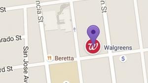 Google Maps mit Werbung