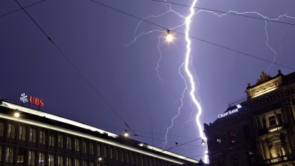Gewitter über zwei Schweizer Banken