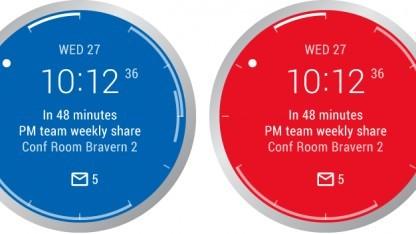Outlook auf der Android-Smartwatch.