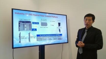 Jack Zhu, Director Fixed Access Network Product Line bei Huawei