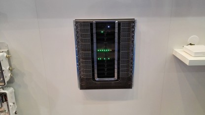 Docsis 3.1 Hardware am Messestand von Cisco