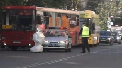 Promobot auf der Straße: fehlender Roboter erst nach 40 Minuten bemerkt