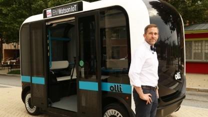 Autonomer Elektrobus Olli: Watson versteht die Fahrgäste.