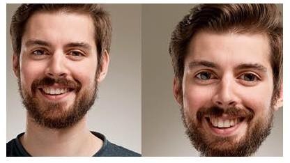 Face-Aware Liquify - vorher und nachher (rechts)
