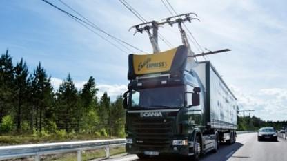 Scania-Lkw auf dem E-Highway