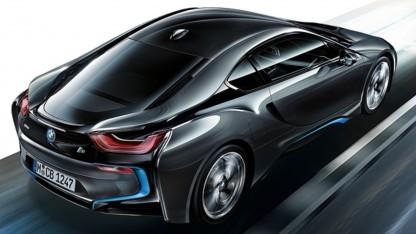 elektroauto supersportwagen bmw i8 soll 400 km rein. Black Bedroom Furniture Sets. Home Design Ideas