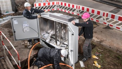 Netzarbeiten der Telekom