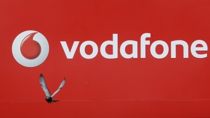 Vodafone-Logo mit Taube