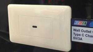 USB-C-Stecker gibt es auch als Wanddosen.