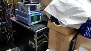 Das bekommt nicht jeder zu sehen: Docsis-3.1-Technik bei Unitymedia auf der Anga Com hinterm Messestand.