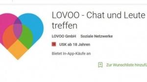 Die Lovoo-App ist trotz der Ermittlungen weiter verfügbar.