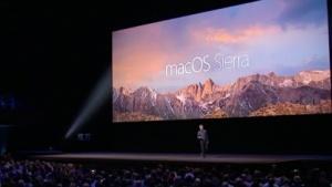 Apple zeigt MacOS Sierra.