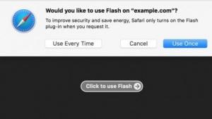Plugins wie Flash werden standardmäßig in Safari 10 blockiert.