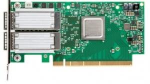 Die ConnectX-5 hat zwei QSFP-Ports für verschiedene Netzwerkoptionen.