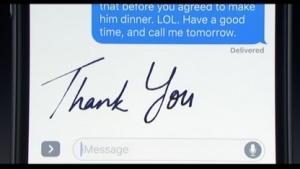Apples iMessage versteht handschriftliche Notizen.