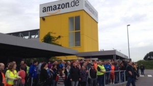Streikende bei Amazon