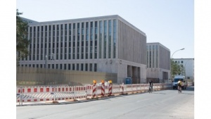 Die Baustelle der  BND-Zentrale in Berlin