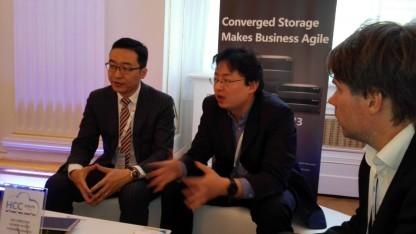 Cui Haifeng, Managing Director Enterprise Business Group Huawei (links)