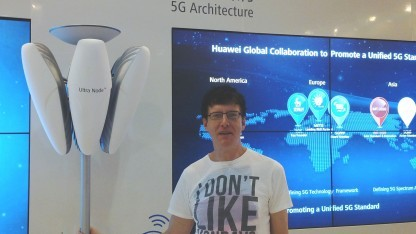 Pre-Standard-5G-Technik: Golem.de-Redakteur Achim Sawall bei Huawei in Shenzhen