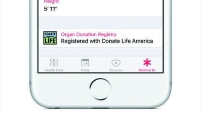 Organspendeausweis in iOS 10
