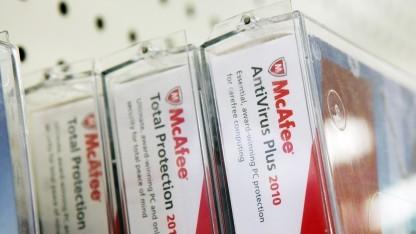 Softwarepakete beim Verkauf von McAfee