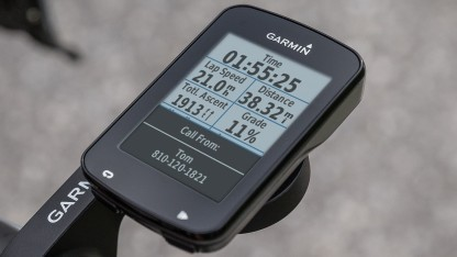 Der Edge 820 liefert zahlreiche Daten für Sportler.