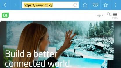 Qt legt seinen eigenen kleinen Browser offen.