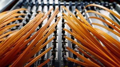 Optische Kabel bei Telecom Italia.