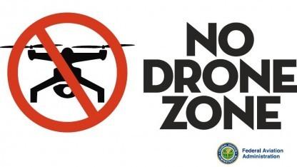No Drone Zone: Feuerwehr muss am Boden bleiben.