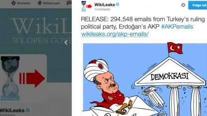 Wikileaks-Tweet zu AKP E-Mails: Daten eine Woche vor dem Putschversuch erhalten