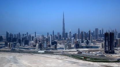 Burj Khalifa in Dubai: längster Aufzugschacht der Welt