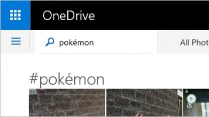 Onedrives Foto-Backup erkennt Pokémon.