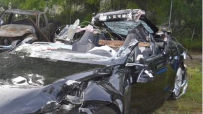 Der verunglückte Tesla Model S