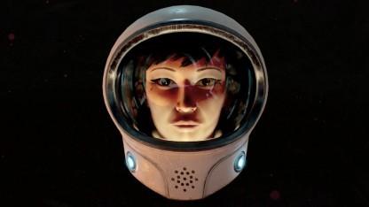 Die Hauptfigur in Headlander ist ein Kopf im Astronautenhelm.