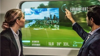 Augmented Windows: digitale Inhalte im Zugfenster
