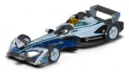 Formel-E-Rennwagen mit neuem Frontflügel: aggressiverer Look
