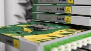 Glasfaserkabel bei der Swisscom