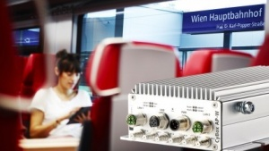 Cybox im Railjet der ÖBB
