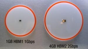 HBM2 ist deutlich größer als HBM1.