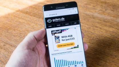 Das neue Galaxy Note 7 von Samsung mag keine scharfen Gegenstände.