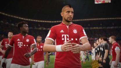 Ein Fußballer des FC Bayern München in Fifa 17