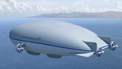 Hybridluftschiff LMH-1: Eine Gruppe von Robotern braucht fünf Tage für die Untersuchung der Hülle.